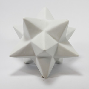Ceramic White Origami Star