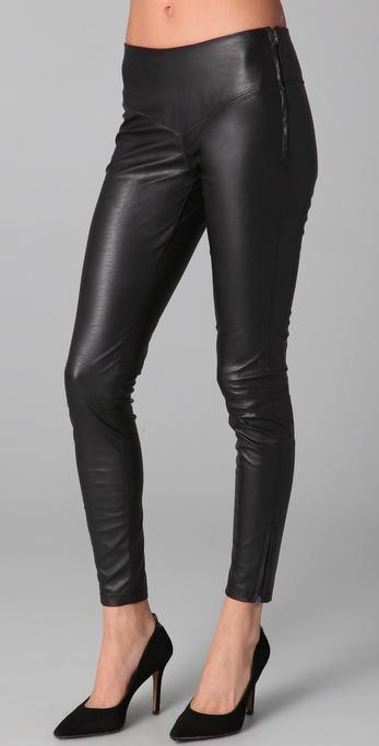 Vegan Faux Leather Leggings