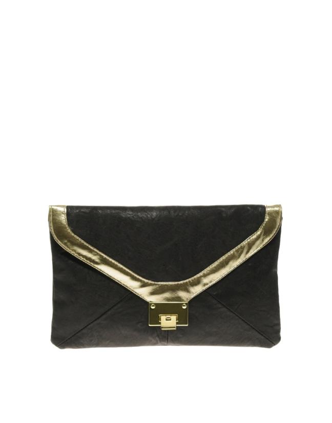 Flip Lock Envelope Clutch