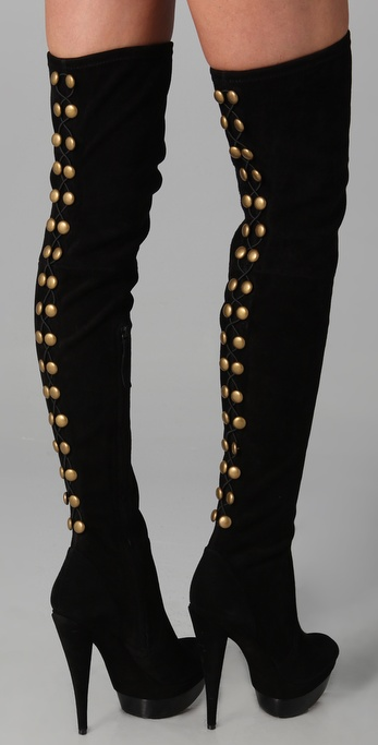 Brigitte Suede Over the Knee Boots