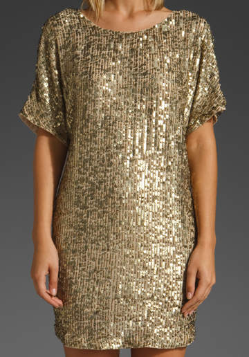 Pure Gold Sequin Dress