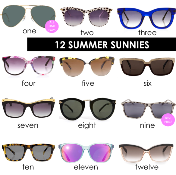 12 summer sunnies // stylekoo