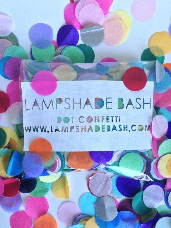 lampshade bash // dot confetti