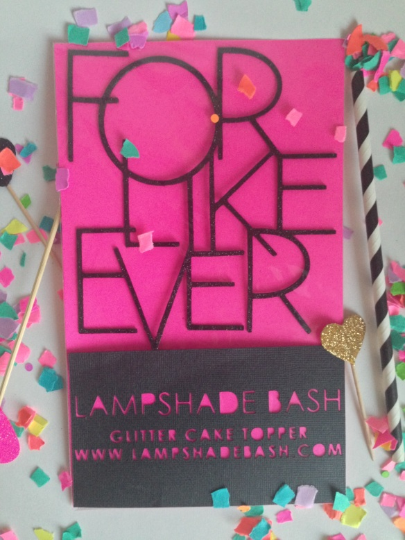 lampshade bash // for like ever cake topper