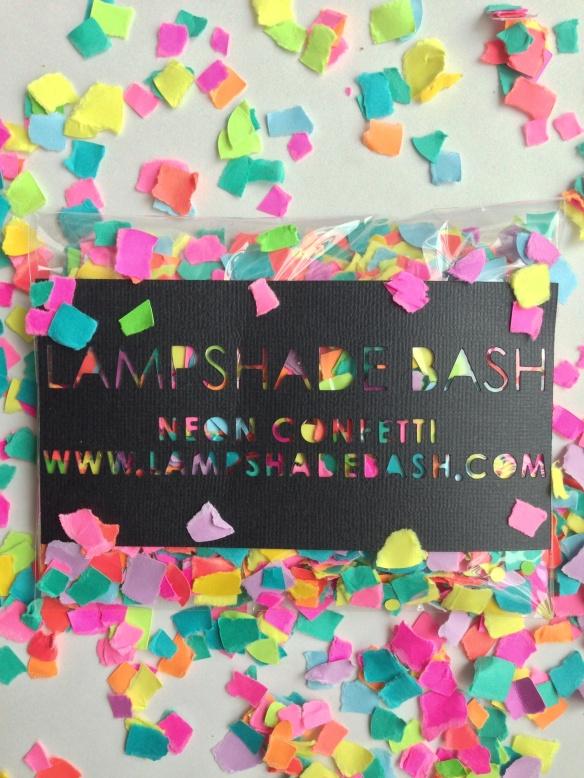 lampshade bash // neon confetti