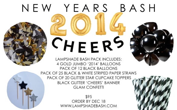 lampshade bash // new years bash in a box