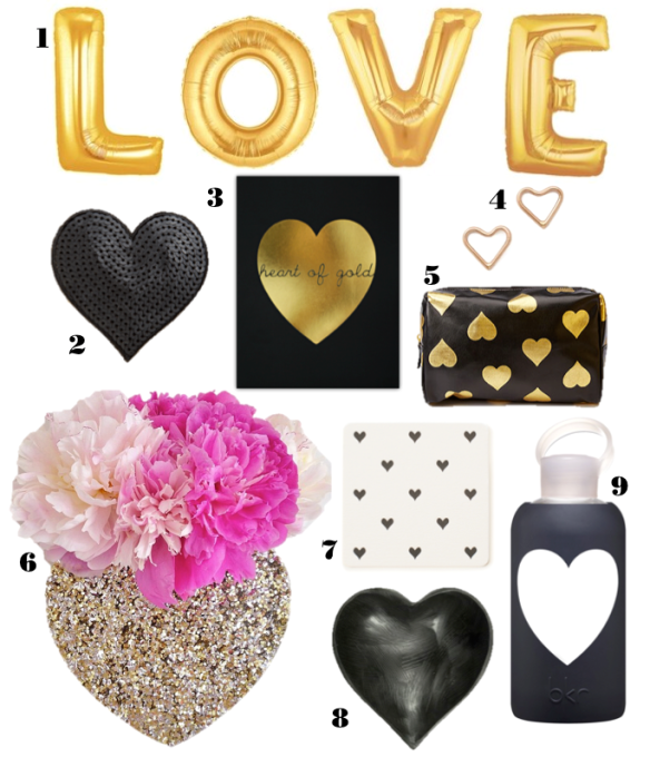stylekoo // black & gold hearts for valentines day